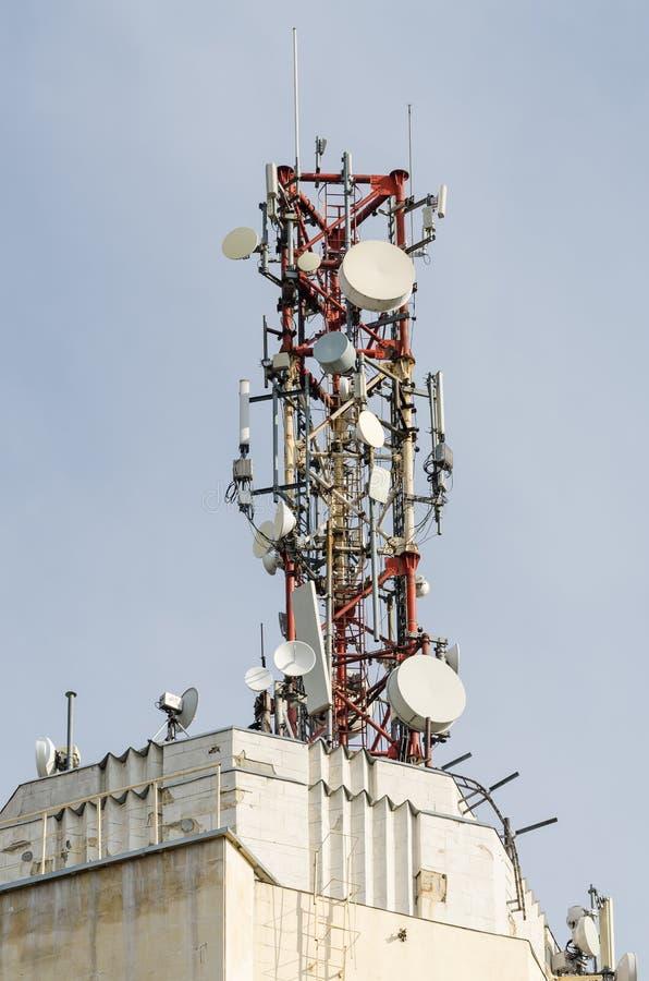 Telecommunication Antenna royalty free stock photos