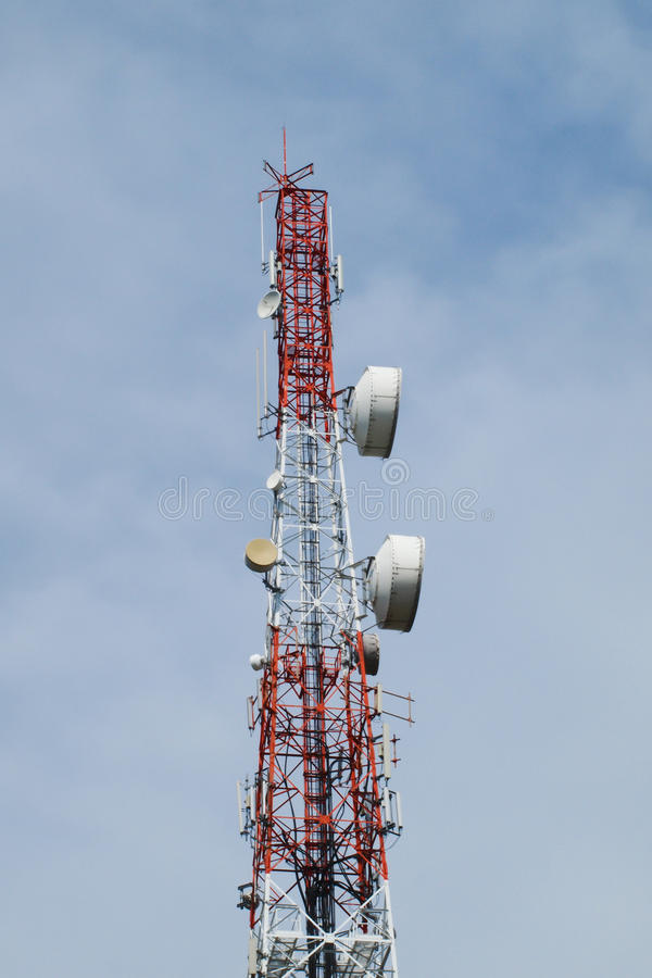Telecommunication, Broadcasting tower. Pic of Telecommunication, Broadcasting tower royalty free stock image