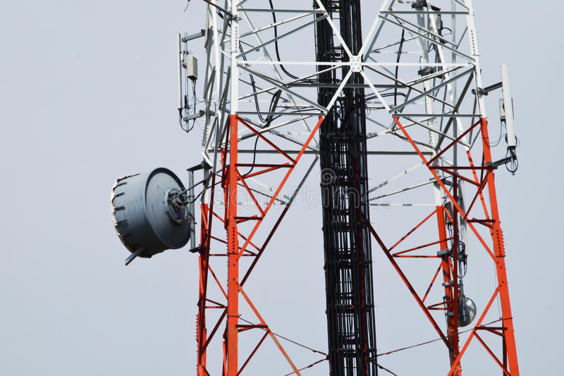 Telecommunication, Broadcasting tower. Pic of Telecommunication, Broadcasting tower stock photo
