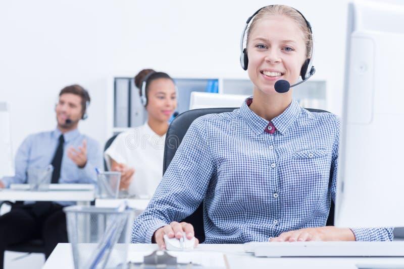 Telecommunication company worker stock photos