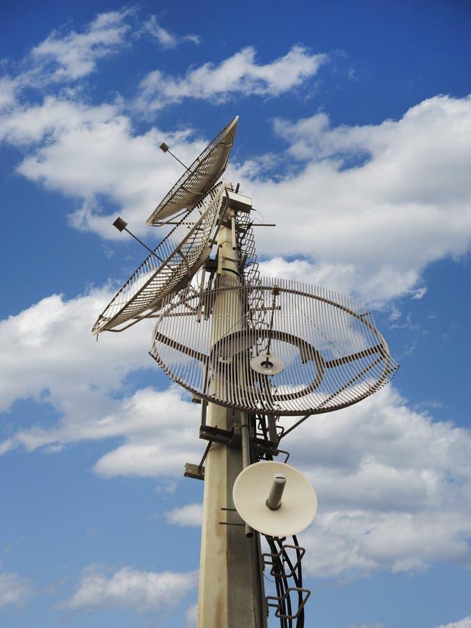 Telecommunication dishes stock photography