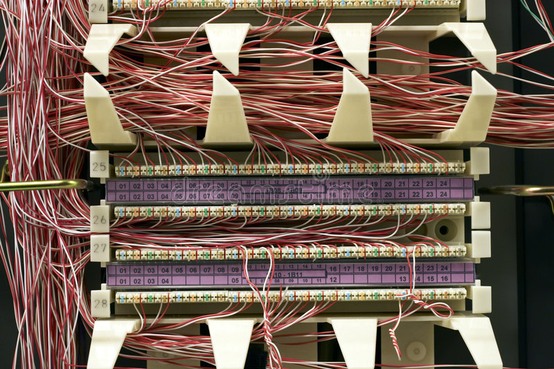 Telecommunication Equipment. Office Telecommunication Equipment stock photography