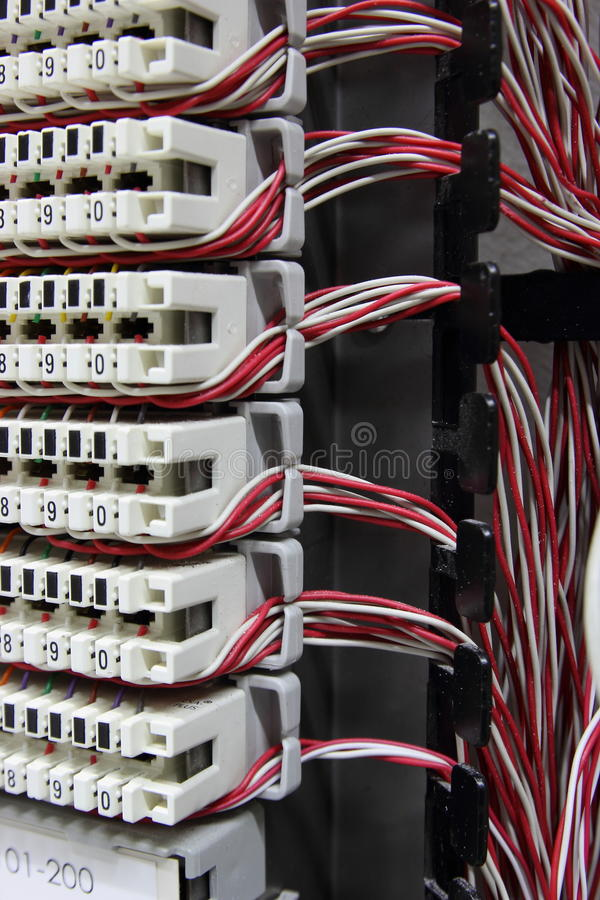 Free Telecommunication Equipment, Cross In A Data Center Of Mobile Operator. Stock Photo - 36179550