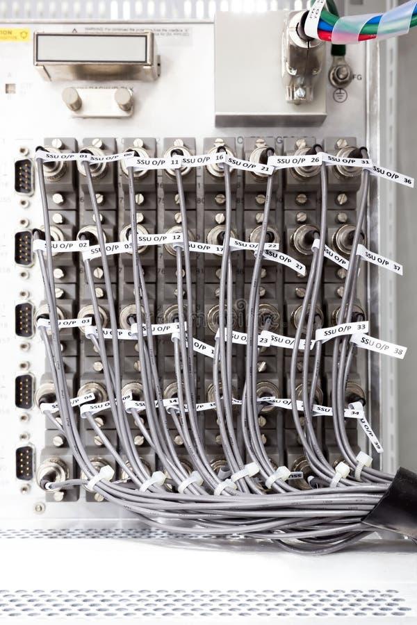 Telecommunication expansion terminator royalty free stock images