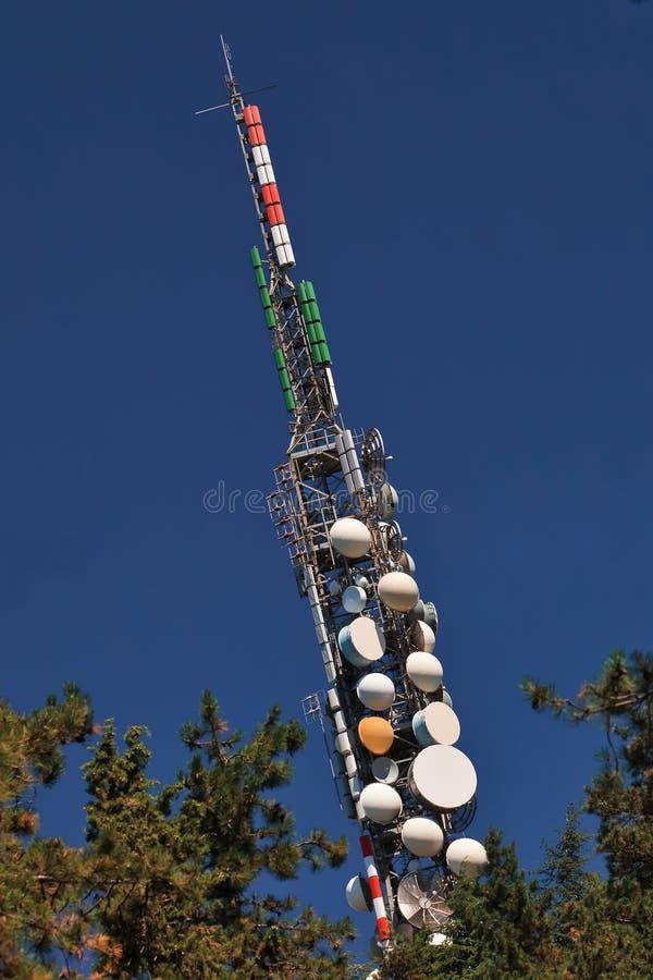Download Telecommunication mast. stock photo. Image of communication - 15916202