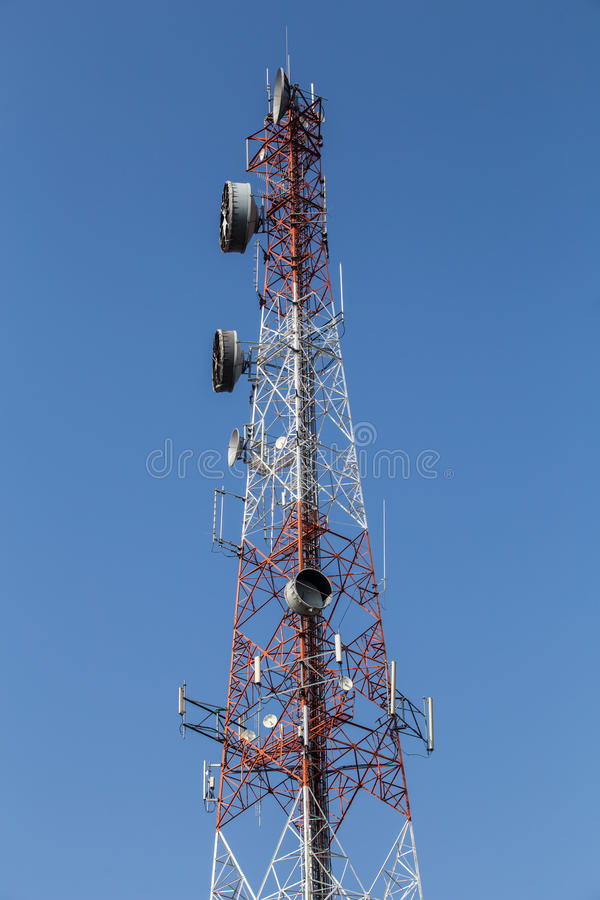 Telecommunication mast. Now classified as important Indispensable to That is heart of interactivity within the world today stock photos