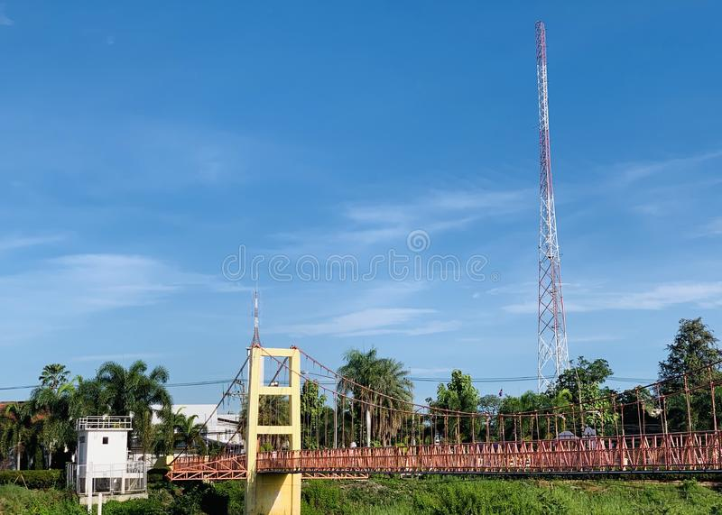 Telecommunication pole stock photography