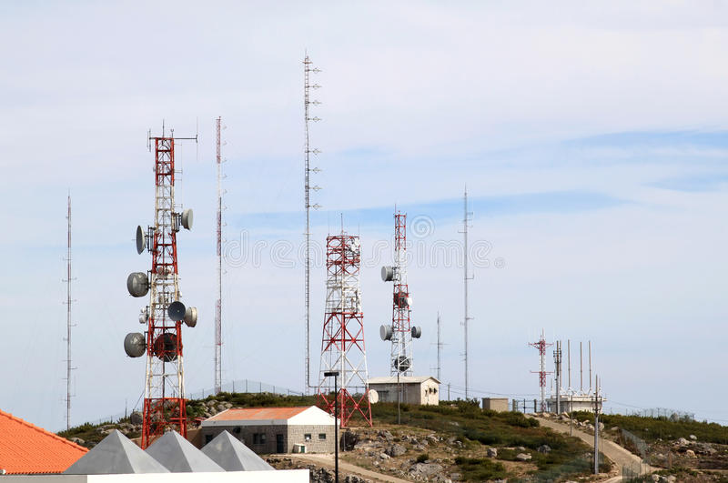 Download Telecommunication And Radar Near Foia, Portugal Stock Image - Image: 22122335