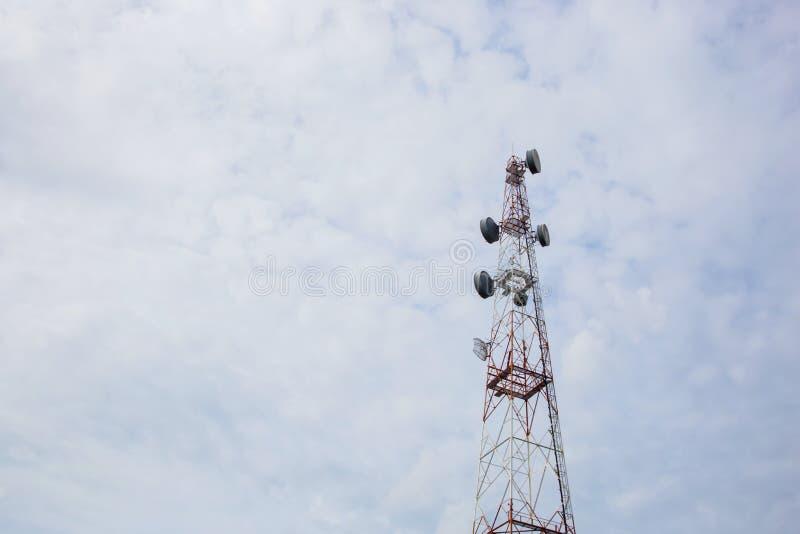 Telecommunication Radio Antenna and Satelite Tower with a sunlight. Telecommunication Radio Antenna and Satelite Tower with sunlight stock images