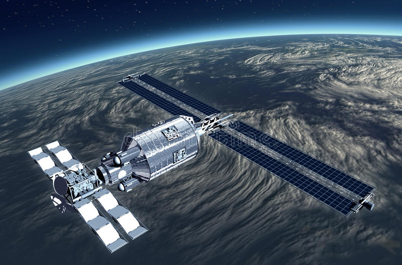 Download Telecommunication Satellite Stock Illustration - Image: 14936066