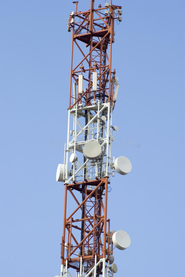Download Telecommunication tower stock image. Image of busy, airwaves - 11894251