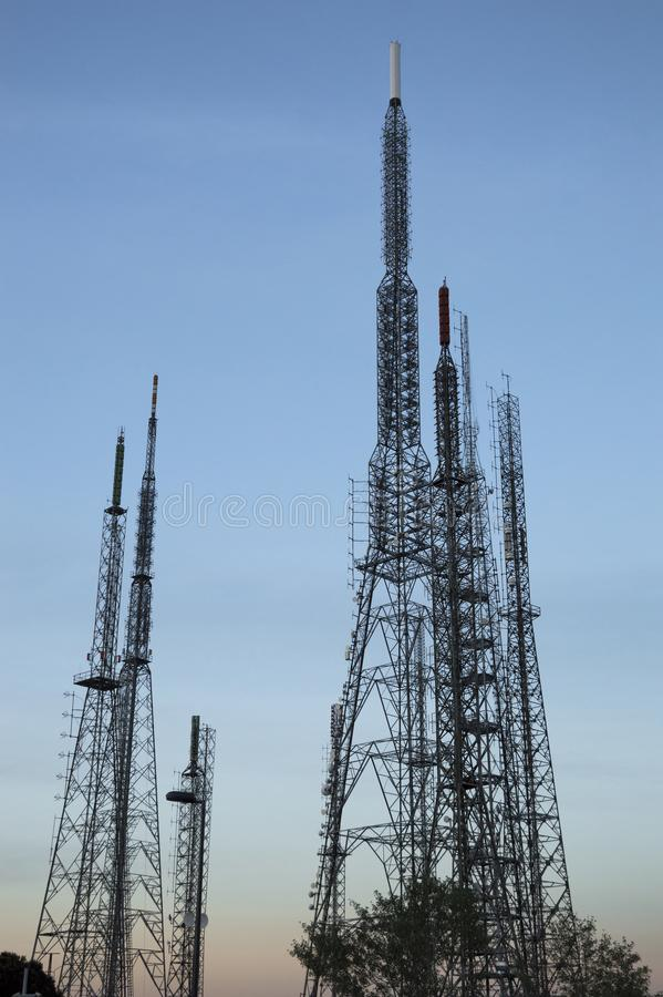 Telecommunication Tower. Photo of Telecommunication Tower. Vertical Photo stock image