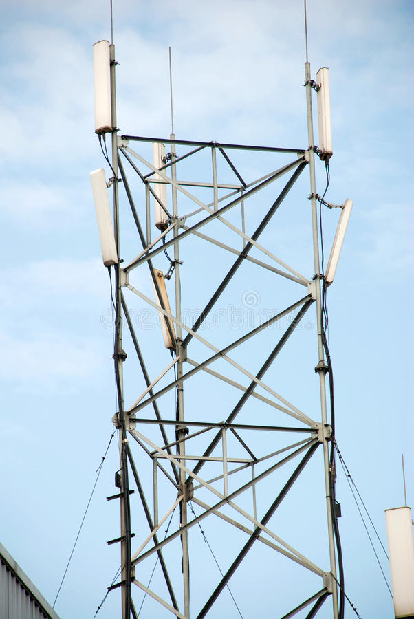 Download Telecommunication tower stock image. Image of data, coverage - 24712367