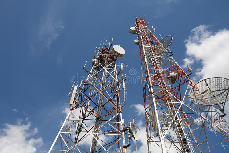 Download Telecommunication tower stock image. Image of broadcasting - 25515827