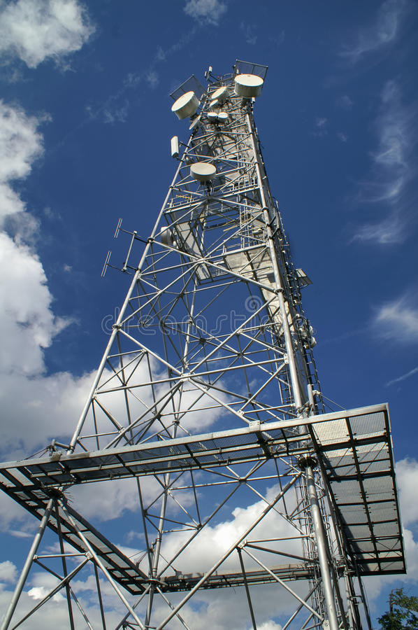 Download Telecommunication tower stock image. Image of global - 26124419
