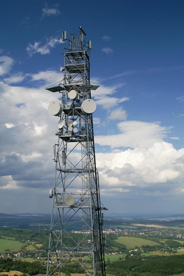 Download Telecommunication tower stock image. Image of broadcasting - 26124425
