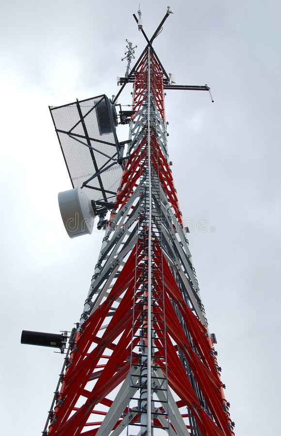 Telecommunication tower 3 stock photo