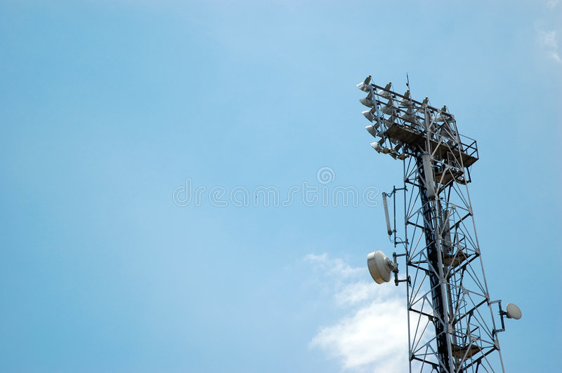 Telecommunication tower stock photos