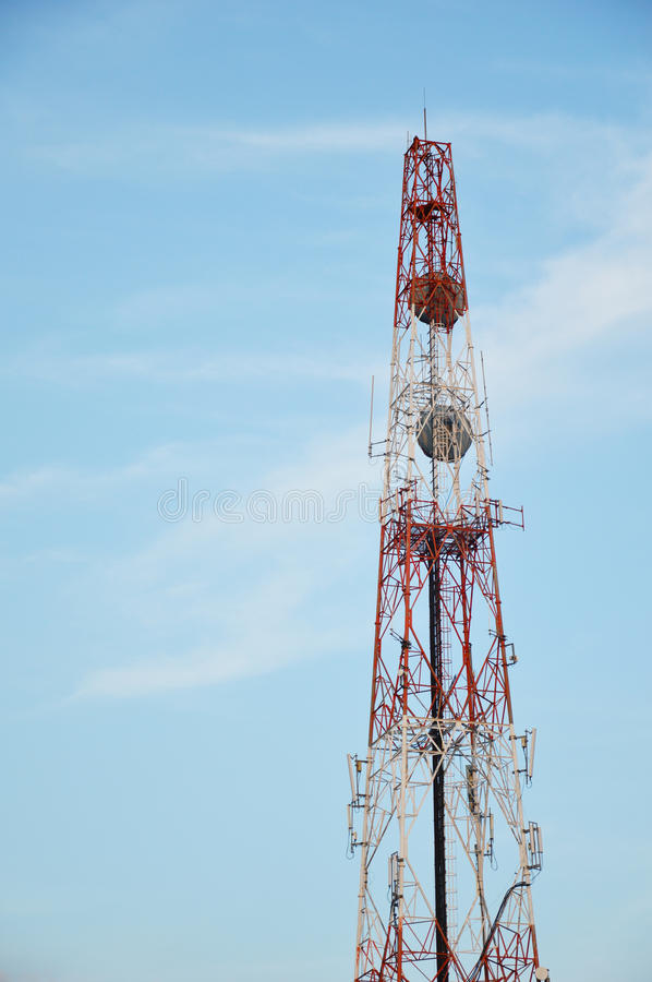 Telecommunication tower. Telecommunication tower with cleary sky royalty free stock image