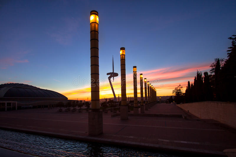 Telecommunication Tower designed for 1992 Summer Olympics in Bar. Celona, Spain stock image
