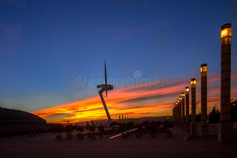 Telecommunication Tower designed for 1992 Summer Olympics in Bar. Celona, Spain stock photography