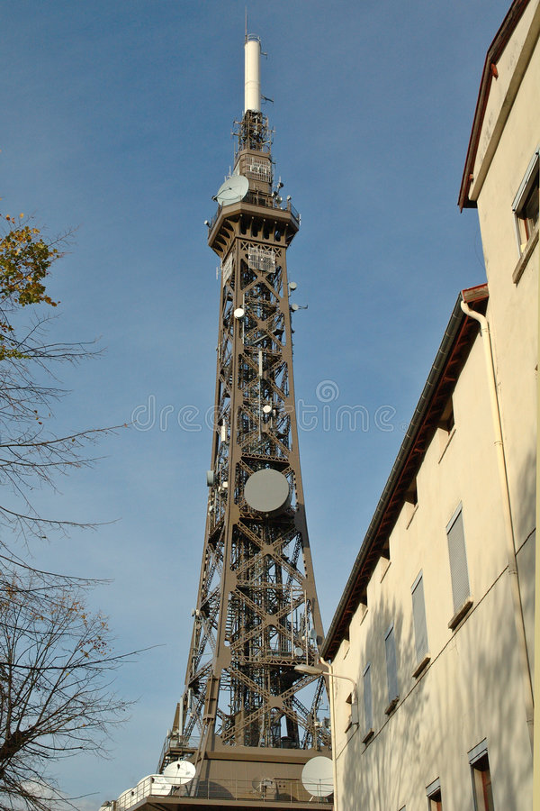 Download Telecommunication Tower : The Eiffel Tower's Little Sister Stock Photo - Image: 1001736