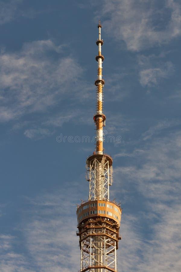 Telecommunication Tower in Kiev, Ukraine. stock photos
