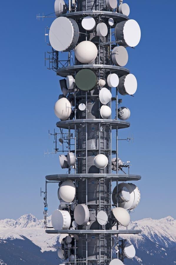 Telecommunication tower royalty free stock photography