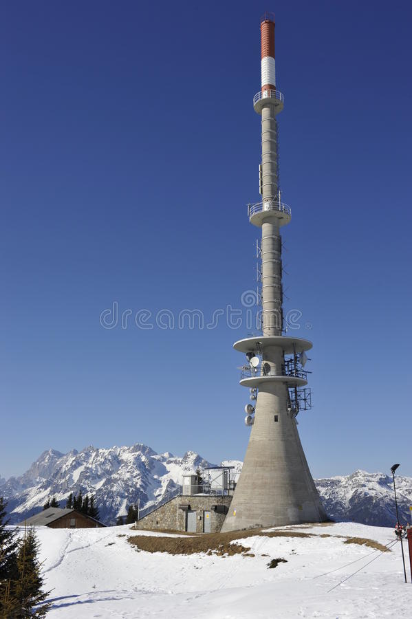 Download Telecommunication Tower In The Mountains Stock Photo - Image: 23075820
