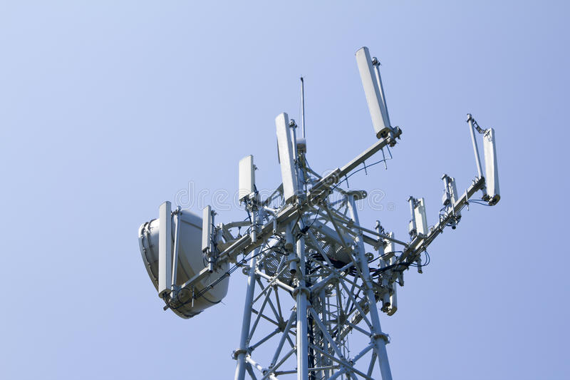 Download Telecommunication tower stock image. Image of repeater - 37607501
