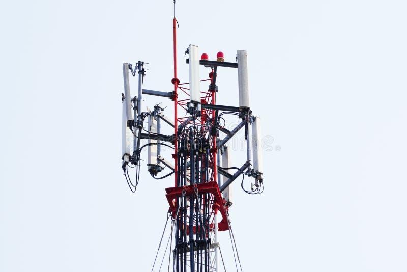 Telecommunication tower. Wireless Communication Antenna Transmitter. 3G, 4G and 5G cellular. Base Station or Base Transceiver Station. Telecommunication tower royalty free stock photo