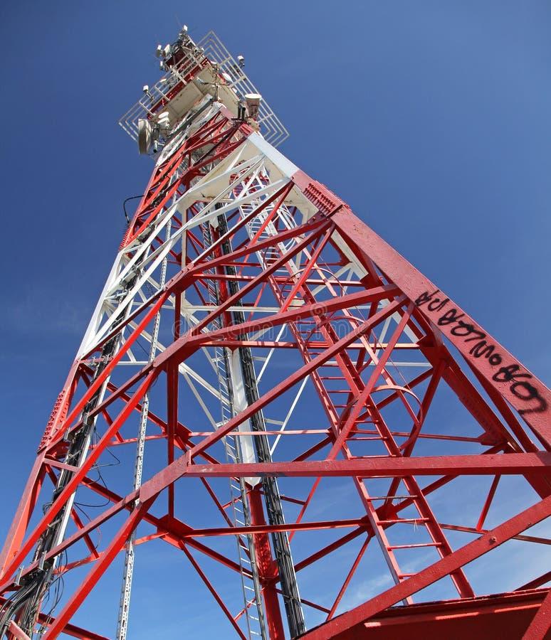 Telecommunication transmitter. On hill Mnich near town Ruzomberok, SLovakia stock photography
