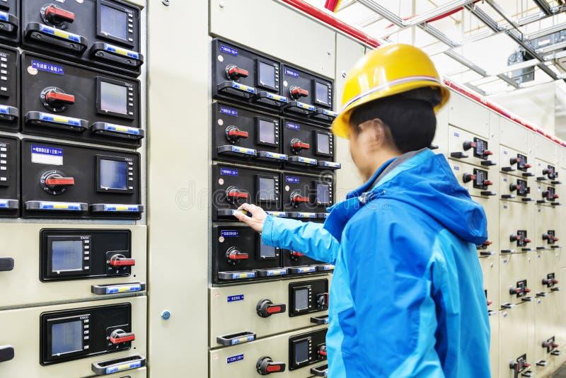 Telecommunication unit in telecommunication room stock photography
