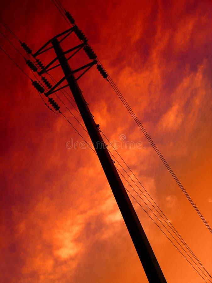 Telecommunications. Telegraph Pole stock images
