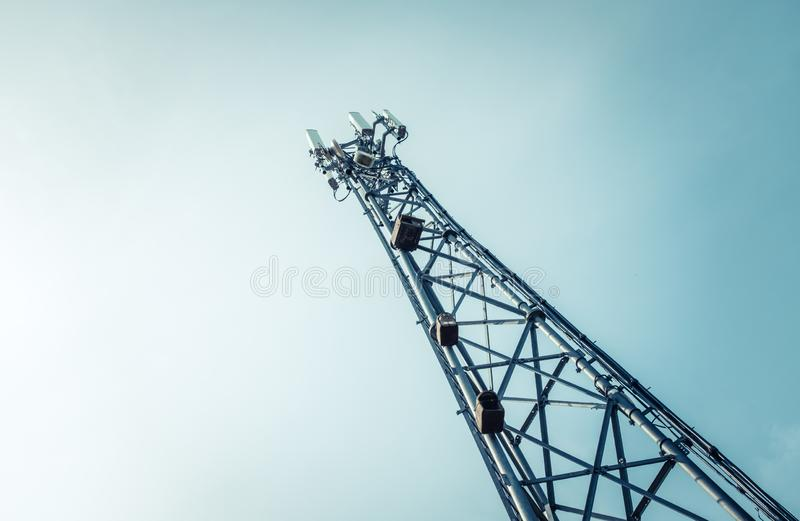 Telecommunications Or Cellphone Radio Tower royalty free stock photography