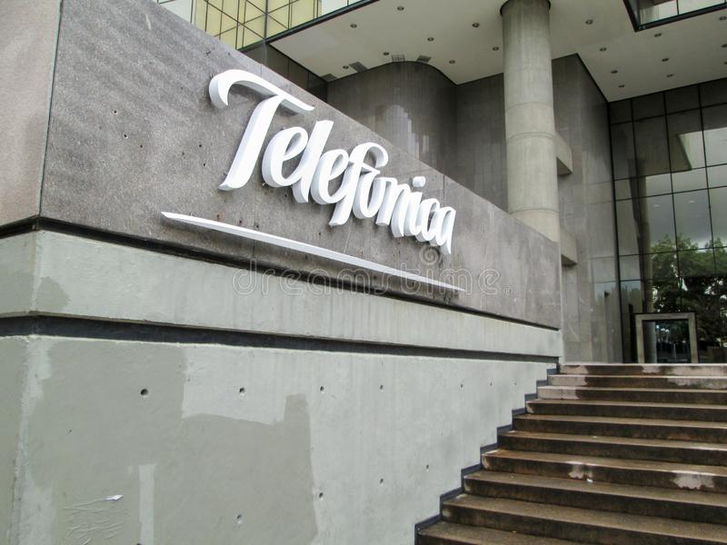 Telecommunications Company, Telefonica, Movistar in Los Palos Grandes, Chacao, Caracas, Venezuela.  stock photo