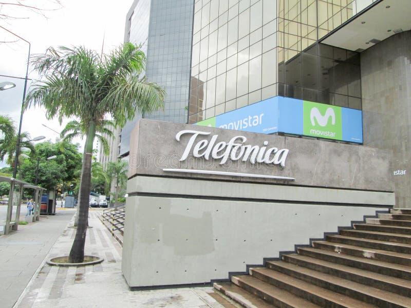 Telecommunications Company, Telefonica, Movistar in Los Palos Grandes, Chacao, Caracas, Venezuela.  royalty free stock image