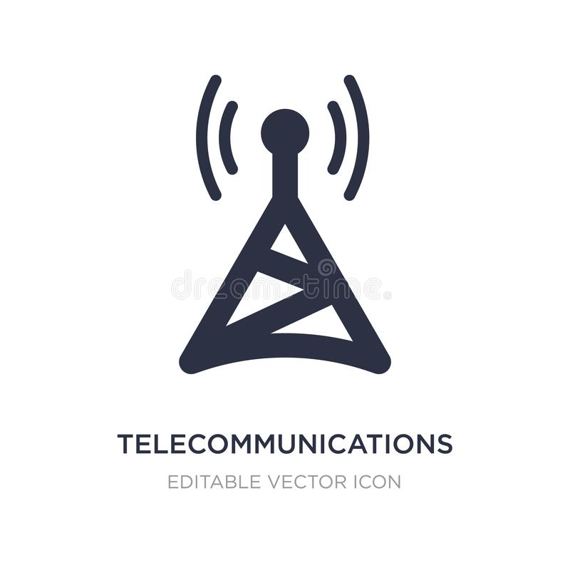 telecommunications icon on white background. Simple element illustration from Computer concept royalty free illustration