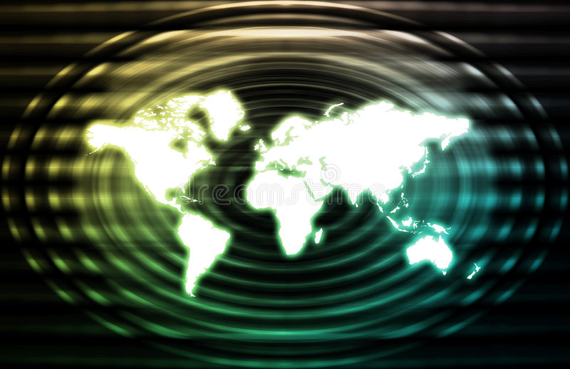 Telecommunications Industry Global Network royalty free illustration