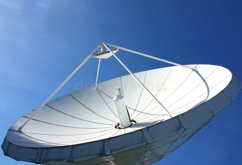 Telecommunications satellite dish stock images