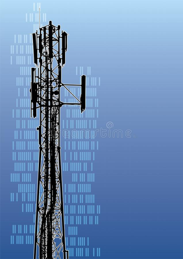 Download Telecommunications tower stock vector. Illustration of radio - 10132555