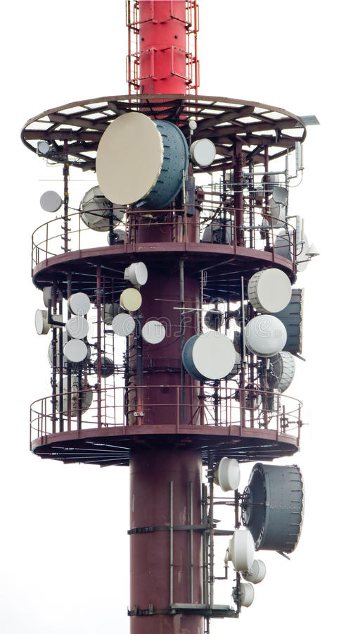 Download Telecommunications tower stock photo. Image of electrical - 10530366