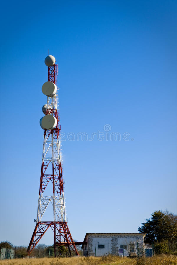 Download Telecommunications tower stock photo. Image of surveillance - 11357114