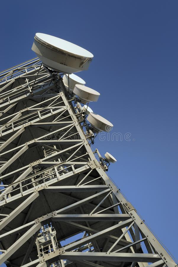 Telecommunications tower 2 stock images