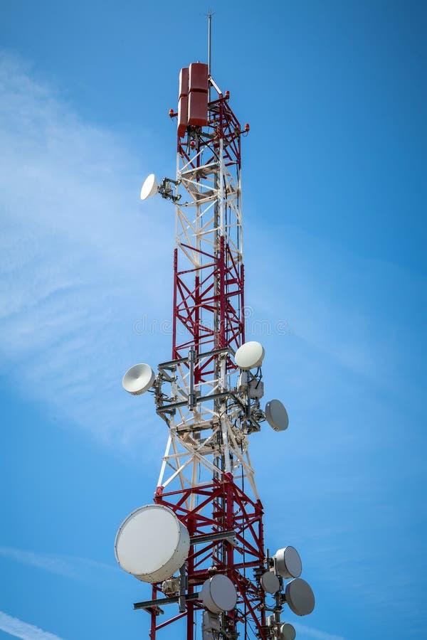Telecommunications tower stock image
