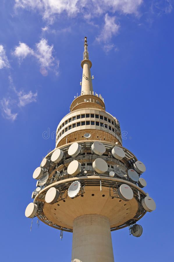 Download Telecommunications tower stock image. Image of black - 25124723