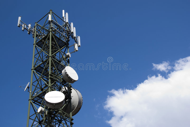 Telecommunications tower stock photography