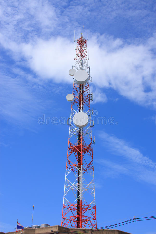 Download Telecommunications Tower Against Blue Sky Stock Image - Image: 25833655