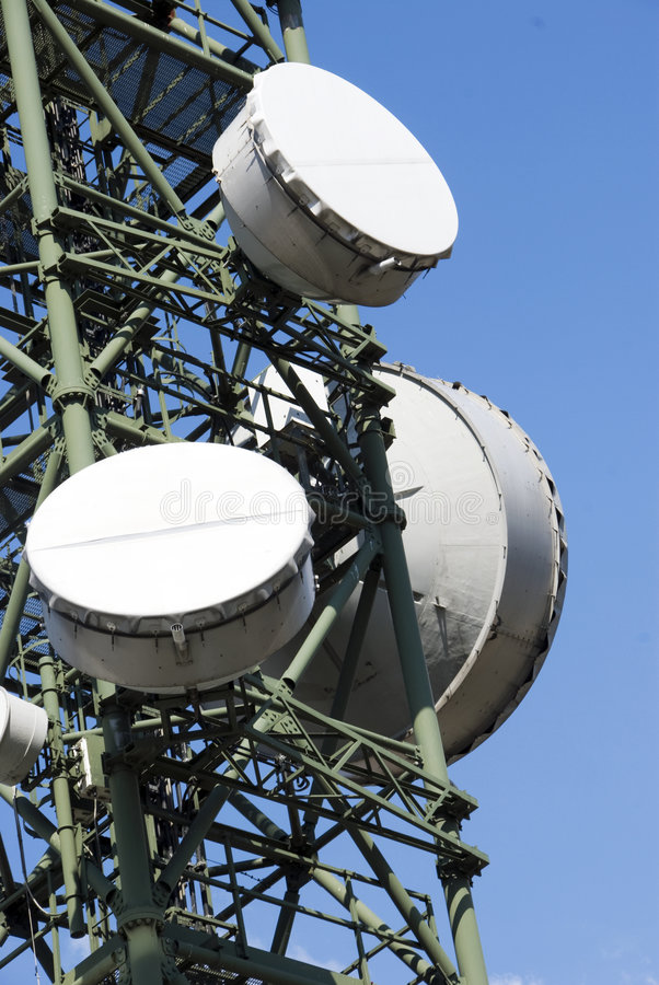 Download Telecommunications Tower - Detail Stock Image - Image: 8961019