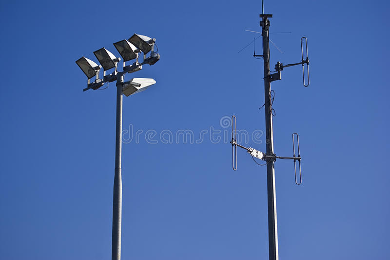 Download Telecommunications Tower & Floodlights Stock Image - Image: 12836851